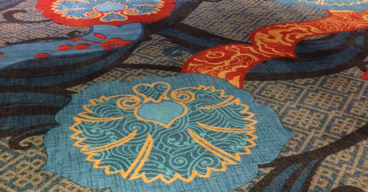 Hotel carpeting can be ugly, but this Dallas hotel gets it