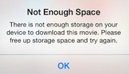 Not Enough Storage Space