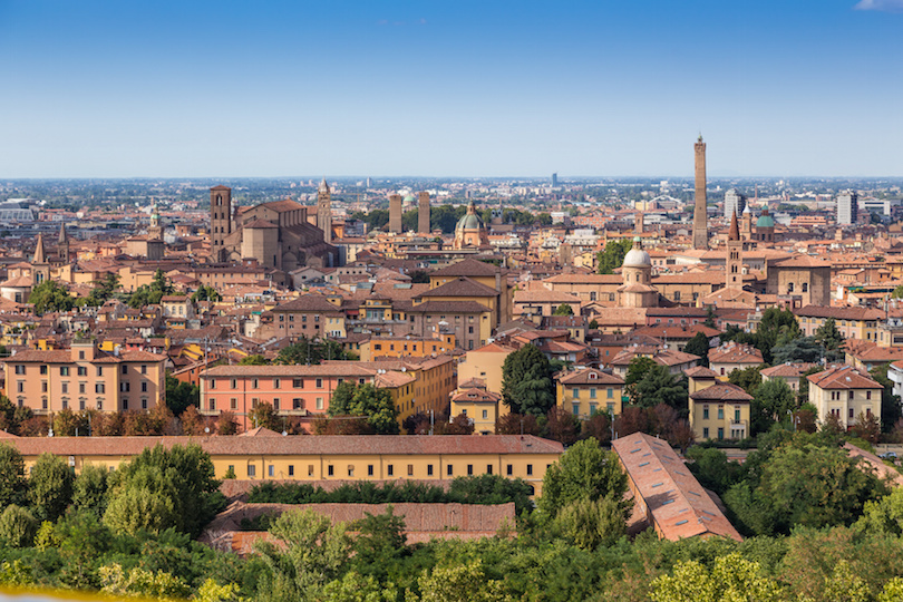 medieval town of Bologna, Italy
