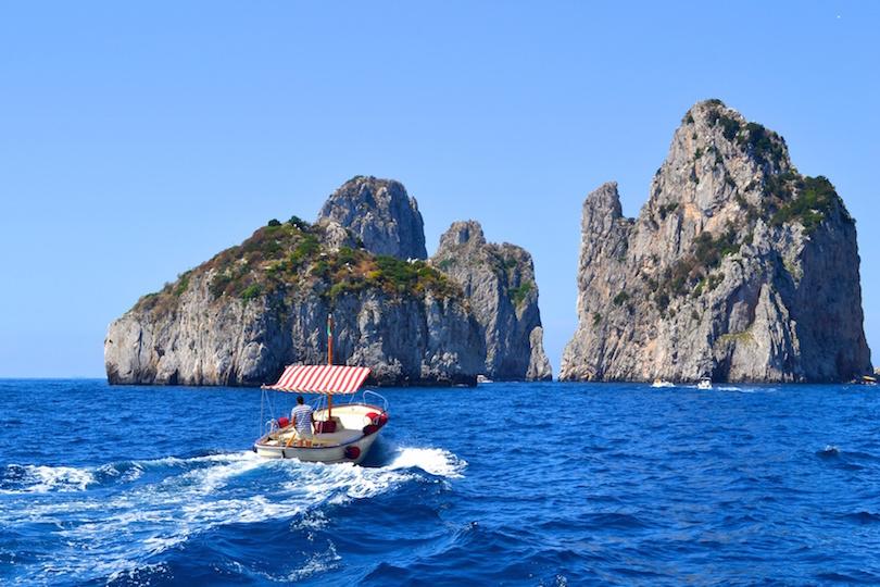 Boating to Capri
