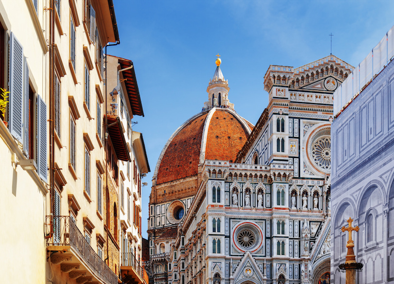 The Florence Cathedral at historic center of Florence, Italy