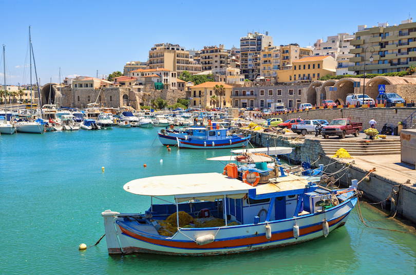Boats in the old port of Heraklion. Crete
