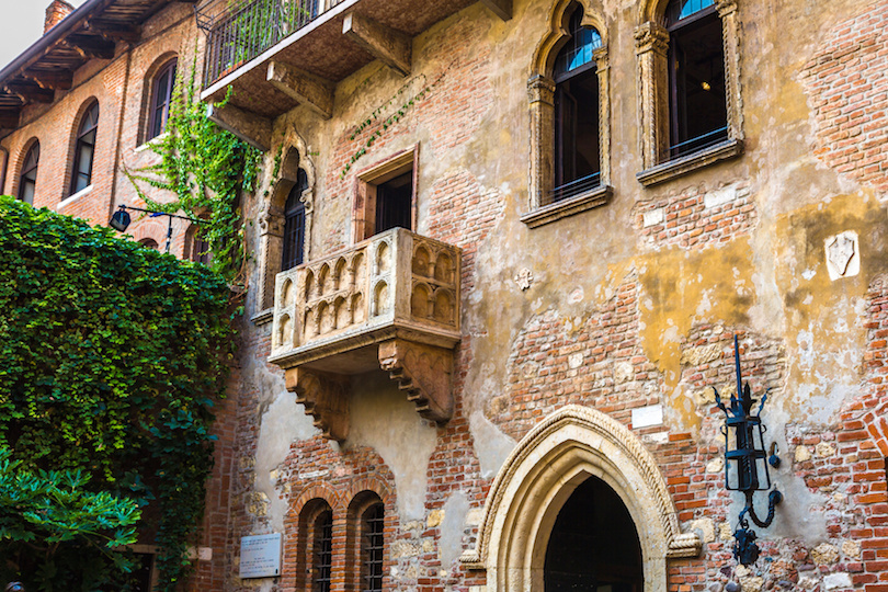 Romeo and Juliet  balcony  in Verona