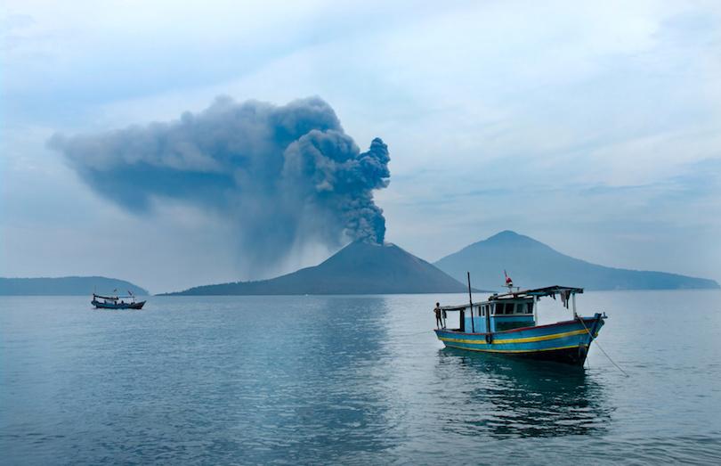 Boat near Anak Krakatau