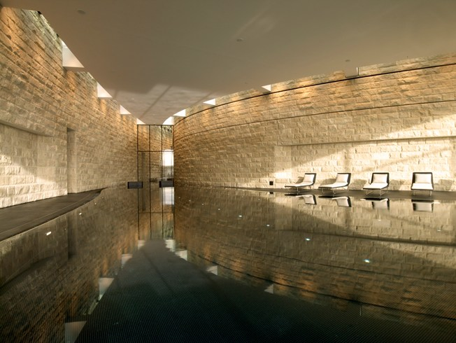 Large Swimming Pool at the Dolder Grand (Image Source: The Leading Hotels of the World / lhw.com)