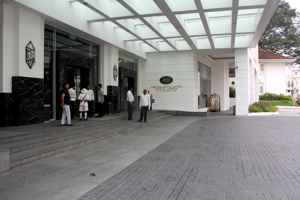 The entrance of The Majestic Hotel