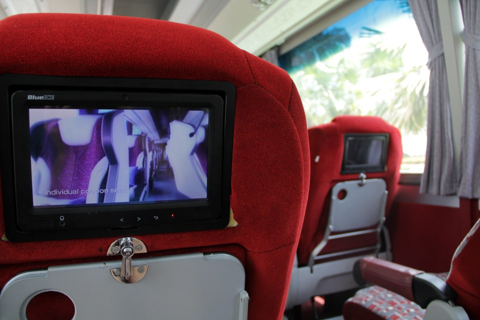 The luxury shuttle will get you to the city center
