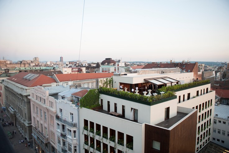 Square Nine Hotel Belgrade Rooftop Terrace