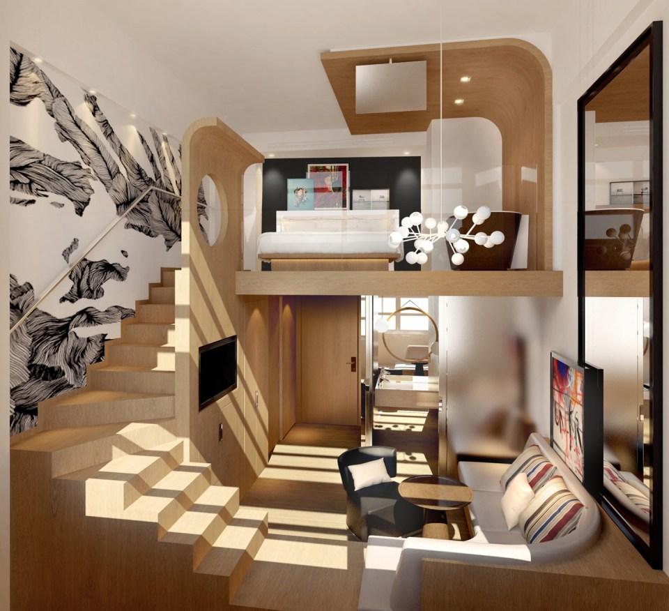 Ultra stylish Duplex Junior Suite (Image Source: Le Cinq Codet / le5codet.com)