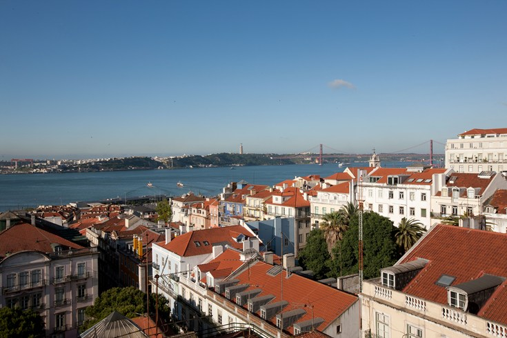 The view from the terrace of the Bairro Alot Hotel is by far the best in Lisbon (Image Source: The Leading Hotels of the World / lhw.com)