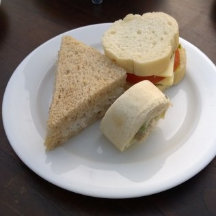 The sandwiches served for Afternoon Tea
