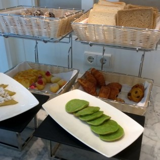 Sweet delights at the breakfast buffet