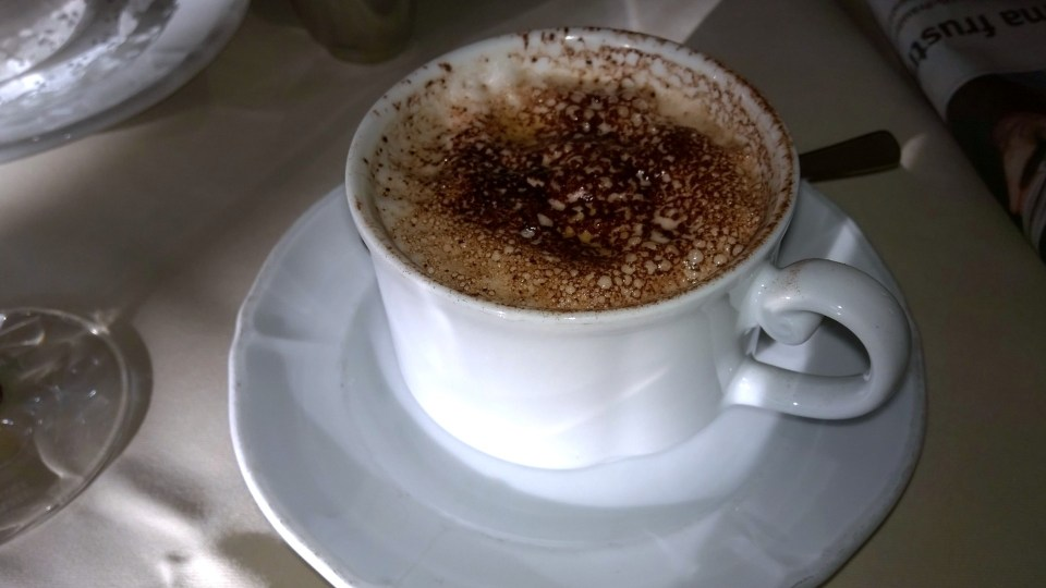 The Cappuccino was good, yet it was already cold when it arrived