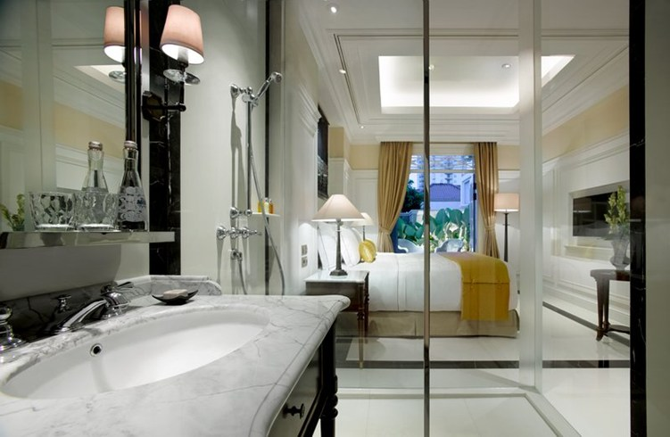 Open Bathroom in a classic decor