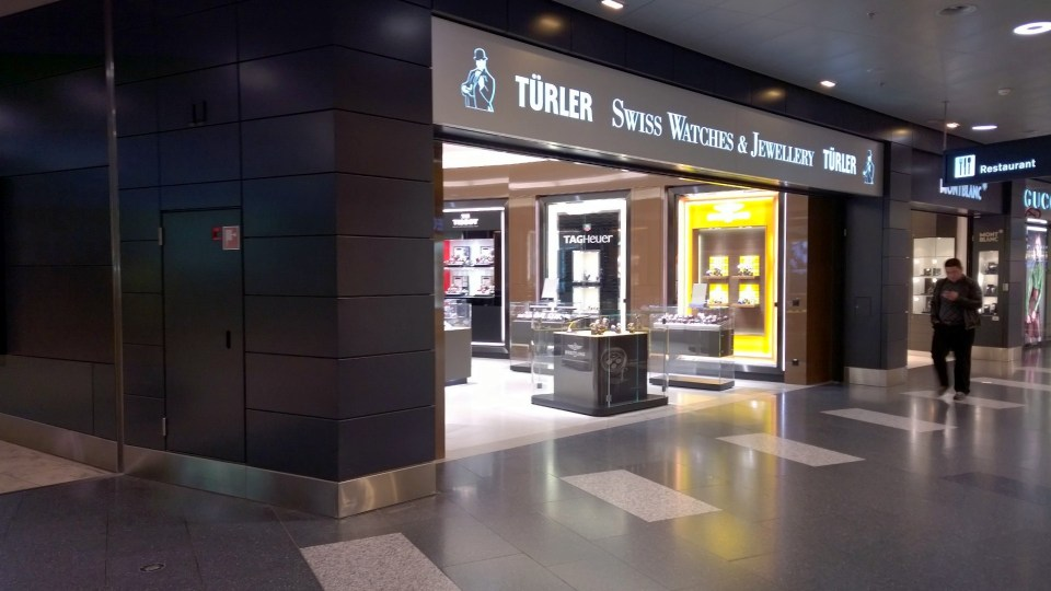Several Swiss shops are opened througout the day at Zurich Airport