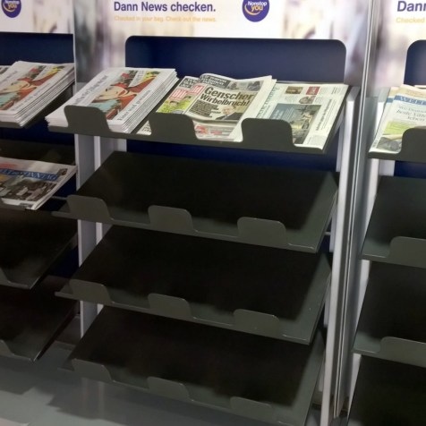 Choice of newspapers in Munich