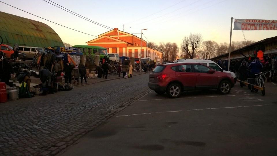 Street market in the heart of Kaliningrad