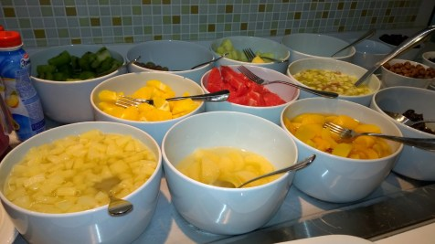 Choice of fruits at the Radisson breakfast