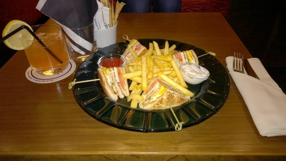 Tasty and rich club sandwich