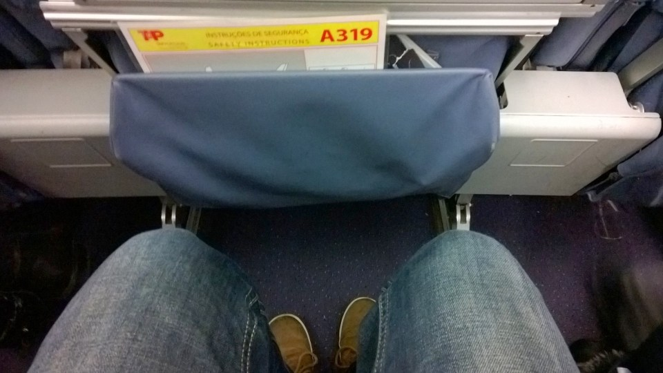 Seat Pitch in TAP Portugal Airbus A319
