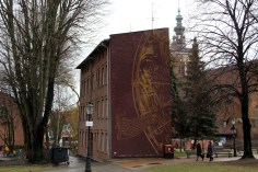 Building with astrological painting