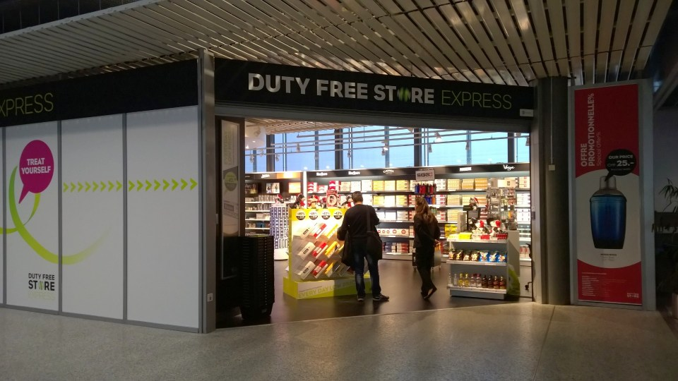 Duty Free shops are available at different locations at the airport