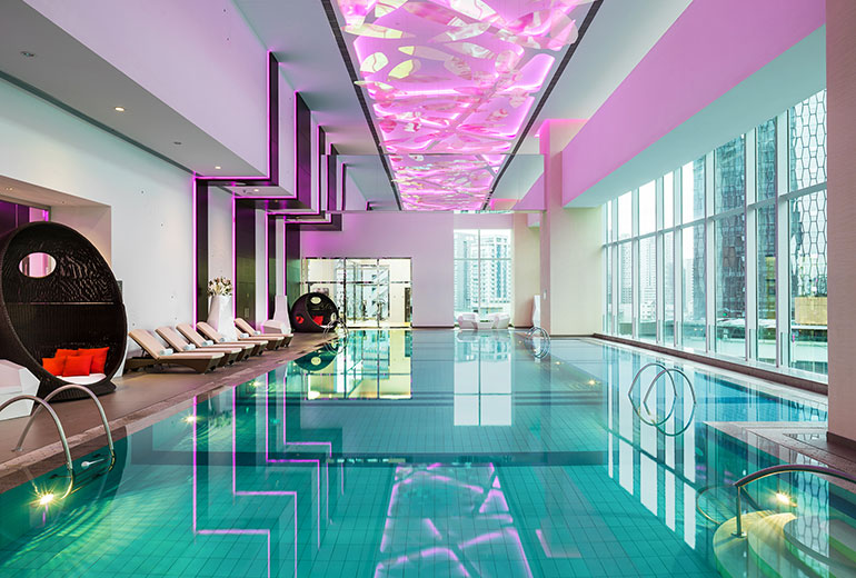 Indoor and outdoor swimming i a joy alike (Image Source: St. Regis Changdu / starwoodhotels.com)