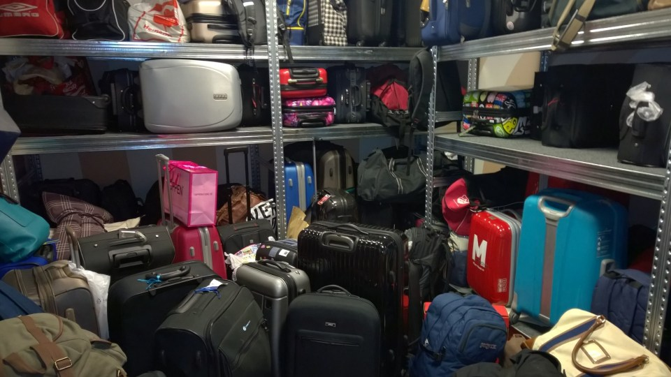 Welcome to the overcrowded luggage storage room