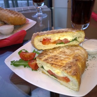 Panini in the Segafredo Cafe