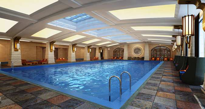 For sports or leisure: The swimming pool (Image Source: Hilton Qingdau Golden Beach / hilton.com)