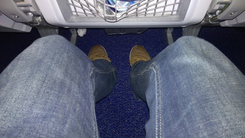 The leg room is neither good nor bad
