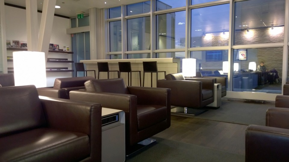 Comfortable seating in the Swiss Lounge in Geneva