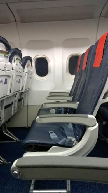 Seats in a Brussels Airlines airplane