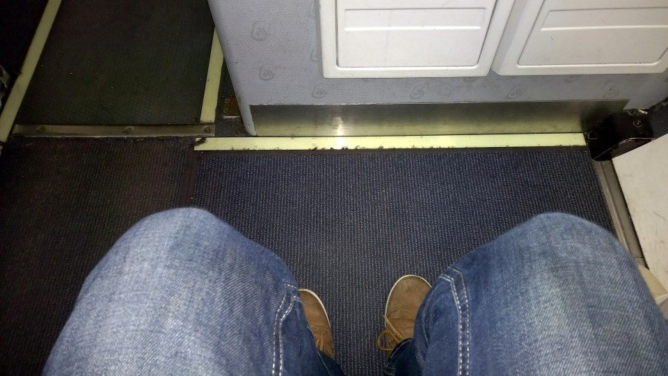 The bulkhead row of the Dash Q-400 offers much legroom