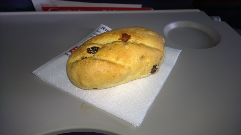 Something sweet? Raisin roll in the morning!