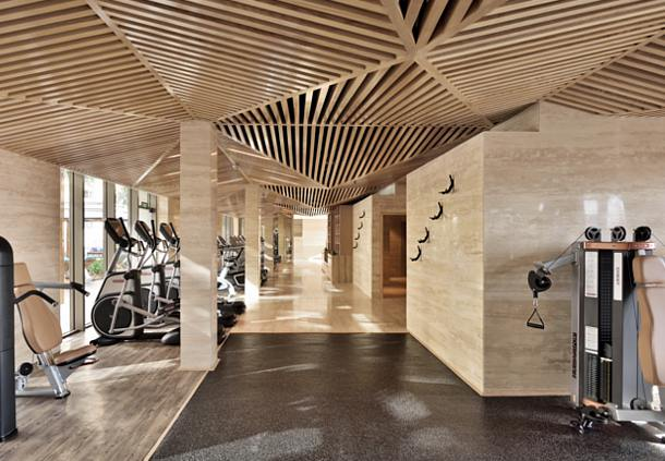 Cool architecture and modern machines: The gym