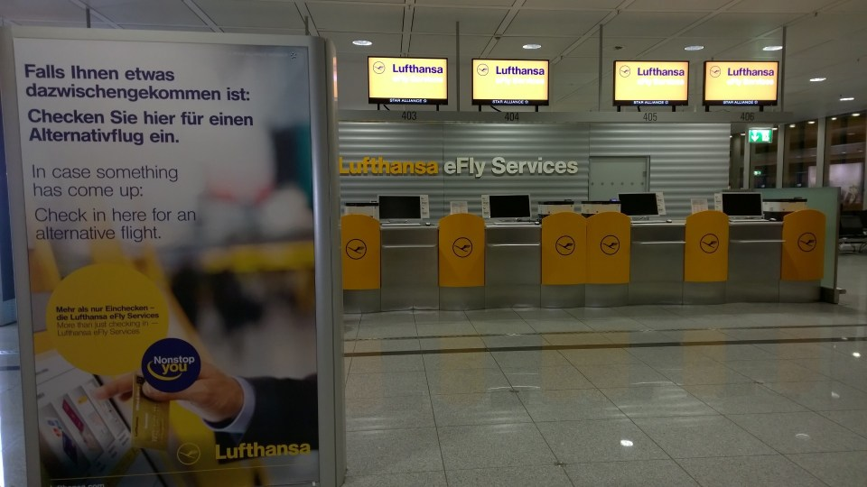 The Munich Airport is a major hub for Lufthansa