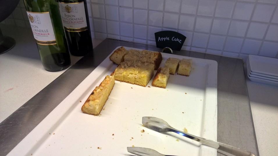 Apple Cake in the Finnair Lounge