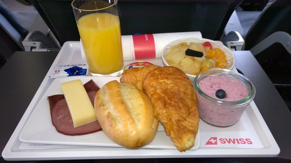 Breakfast in the Swiss Business Class