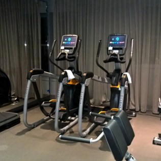 Modern cardio machines in the gym