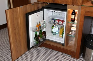 Fully stocked minibar