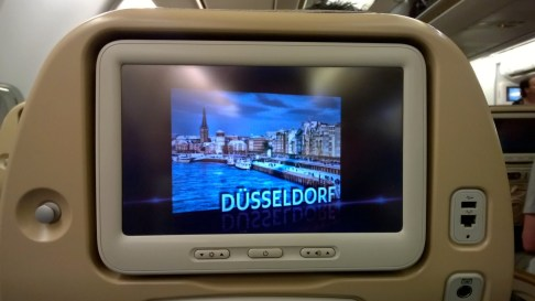 The IFE screen is large and modern