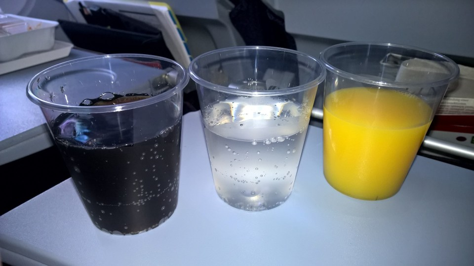 Air Berlin Economy Class Drinks