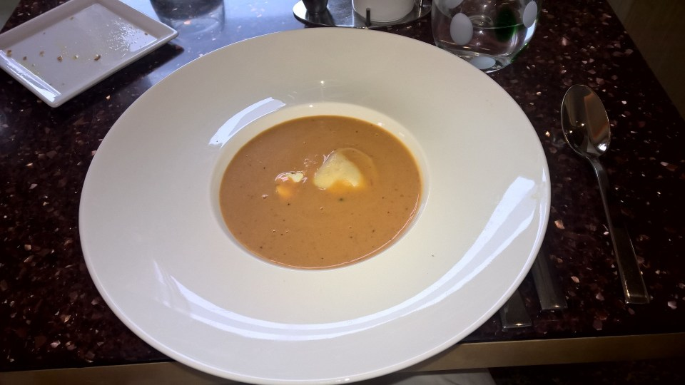 Lobster Soup at the Aragosta Bar and Bistro