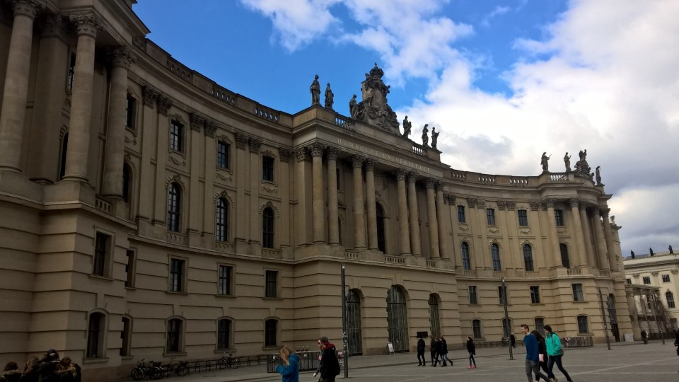 Starting at the beautiful Humboldt University