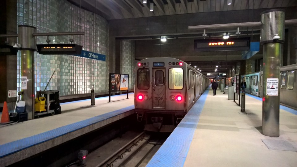 The Chicago L mainly operates on elevated rails