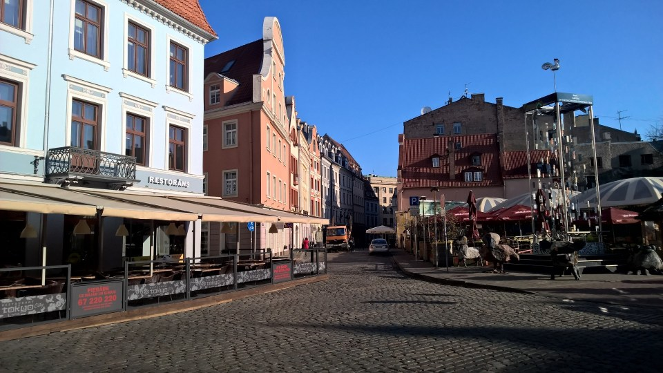 Riga's old town is absolutely lovely