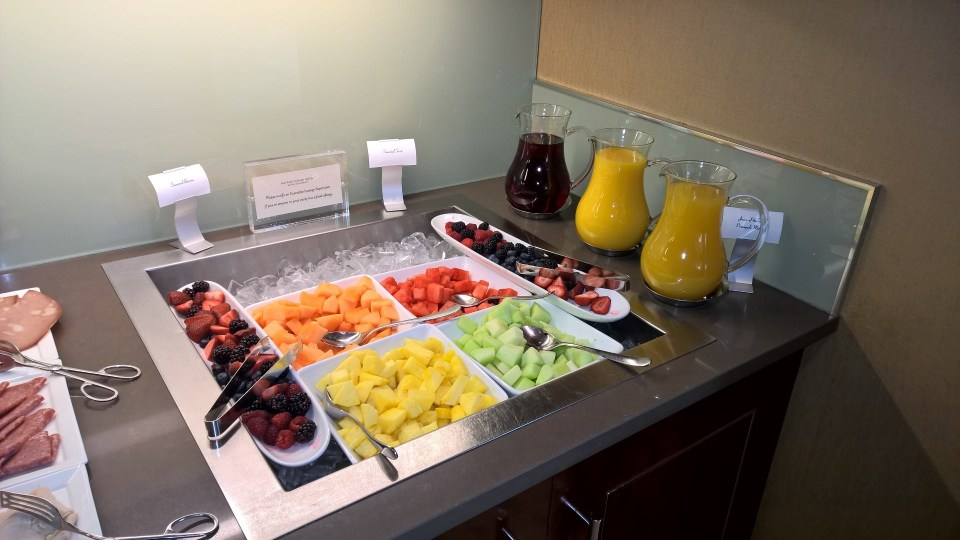 Fresh fruits on the breakfast buffet