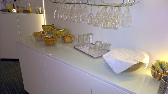 First view of the buffet at IDW Esperanza Lounge Vilnius