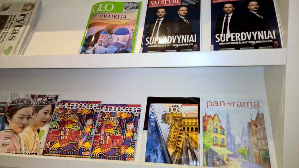 Magazines in the IDW Esparanza Lounge Vilnius